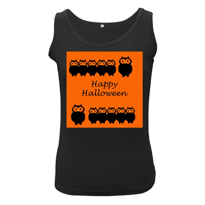 Happy Halloween - owls Women s Black Tank Top