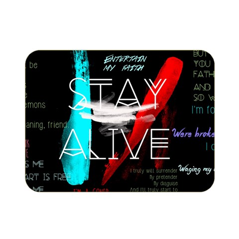 Twenty One Pilots Stay Alive Song Lyrics Quotes Double Sided Flano Blanket (Mini)