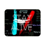 Twenty One Pilots Stay Alive Song Lyrics Quotes Double Sided Flano Blanket (Mini)  35 x27 Blanket Front