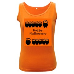 Happy Halloween   Owls Women s Dark Tank Top