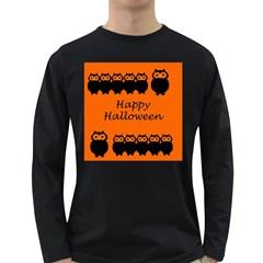 Happy Halloween   Owls Long Sleeve Dark T Shirts