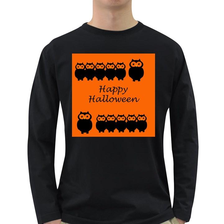 Happy Halloween - owls Long Sleeve Dark T-Shirts