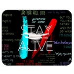 Twenty One Pilots Stay Alive Song Lyrics Quotes Double Sided Flano Blanket (Medium)  60 x50 Blanket Back