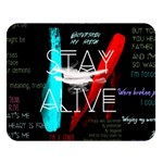 Twenty One Pilots Stay Alive Song Lyrics Quotes Double Sided Flano Blanket (Large)   Blanket Back