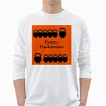 Happy Halloween - owls White Long Sleeve T-Shirts Front
