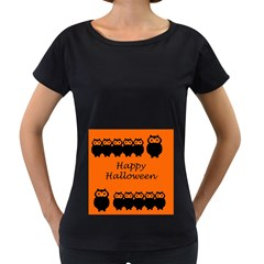 Happy Halloween   Owls Women s Loose Fit T Shirt (black)