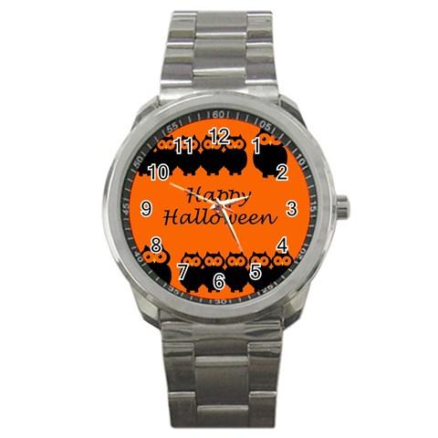 Happy Halloween - owls Sport Metal Watch