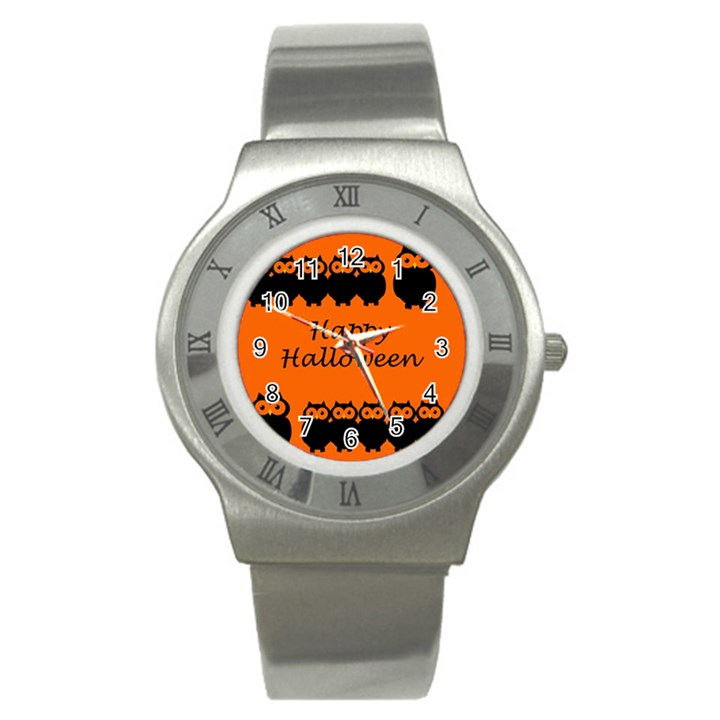 Happy Halloween - owls Stainless Steel Watch