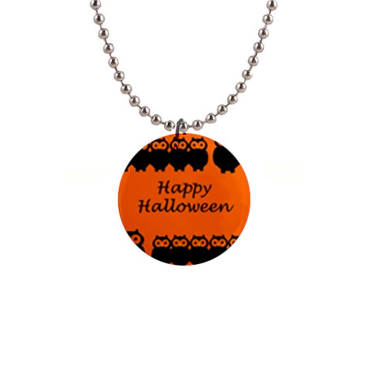 Happy Halloween - owls Button Necklaces
