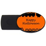 Happy Halloween - owls USB Flash Drive Oval (4 GB)  Front