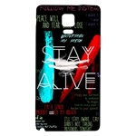 Twenty One Pilots Stay Alive Song Lyrics Quotes Galaxy Note 4 Back Case Front