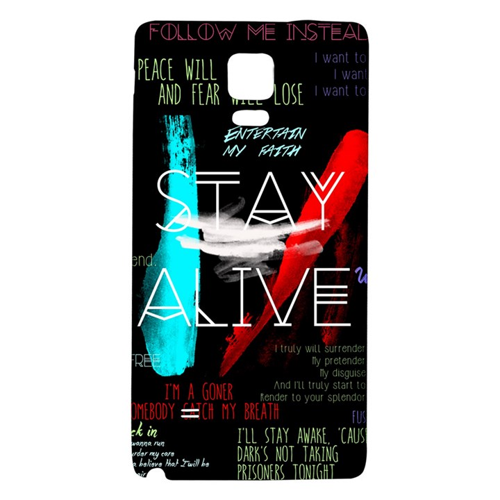 Twenty One Pilots Stay Alive Song Lyrics Quotes Galaxy Note 4 Back Case