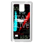 Twenty One Pilots Stay Alive Song Lyrics Quotes Samsung Galaxy Note 4 Case (White) Front