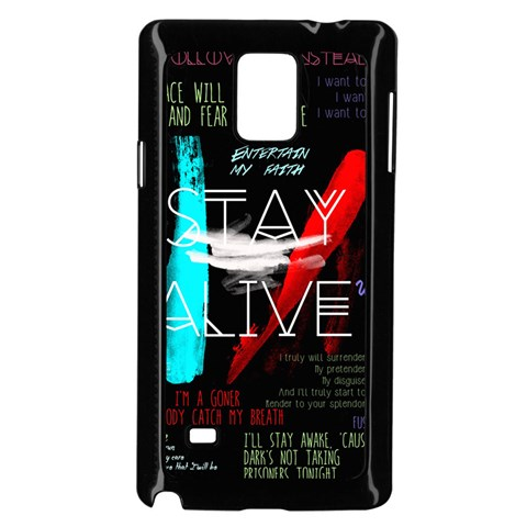 Twenty One Pilots Stay Alive Song Lyrics Quotes Samsung Galaxy Note 4 Case (Black)