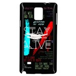 Twenty One Pilots Stay Alive Song Lyrics Quotes Samsung Galaxy Note 4 Case (Black) Front