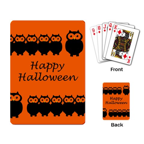 Happy Halloween - owls Playing Card