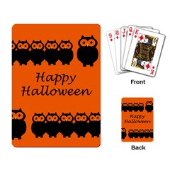Happy Halloween   Owls Playing Card