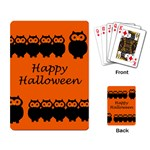 Happy Halloween - owls Playing Card Back