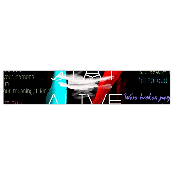 Twenty One Pilots Stay Alive Song Lyrics Quotes Flano Scarf (Small)