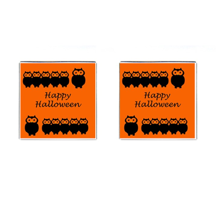 Happy Halloween - owls Cufflinks (Square)