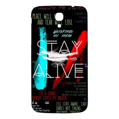 Twenty One Pilots Stay Alive Song Lyrics Quotes Samsung Galaxy Mega I9200 Hardshell Back Case