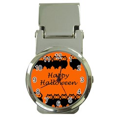 Happy Halloween - owls Money Clip Watches