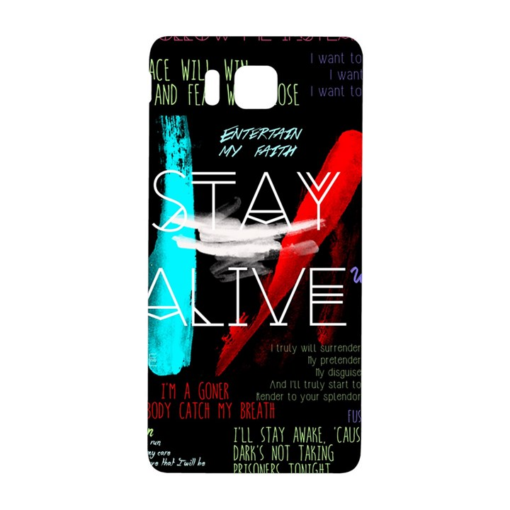 Twenty One Pilots Stay Alive Song Lyrics Quotes Samsung Galaxy Alpha Hardshell Back Case