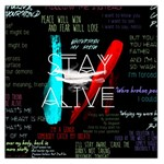 Twenty One Pilots Stay Alive Song Lyrics Quotes Large Satin Scarf (Square) Front