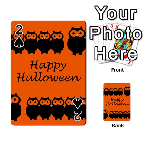 Happy Halloween - owls Playing Cards 54 Designs