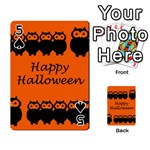 Happy Halloween - owls Playing Cards 54 Designs  Front - Spade5