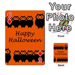 Happy Halloween - owls Playing Cards 54 Designs  Front - Diamond6