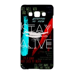 Twenty One Pilots Stay Alive Song Lyrics Quotes Samsung Galaxy A5 Hardshell Case