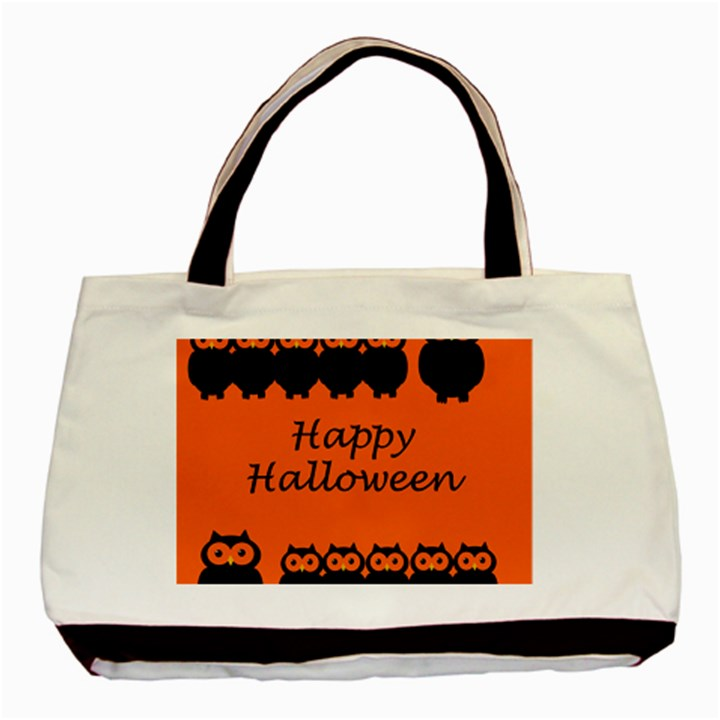 Happy Halloween - owls Basic Tote Bag