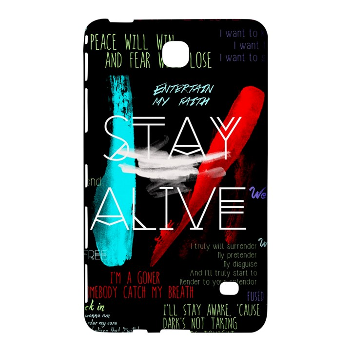 Twenty One Pilots Stay Alive Song Lyrics Quotes Samsung Galaxy Tab 4 (8 ) Hardshell Case