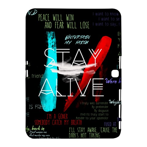 Twenty One Pilots Stay Alive Song Lyrics Quotes Samsung Galaxy Tab 4 (10.1 ) Hardshell Case