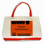 Happy Halloween - owls Classic Tote Bag (Red) Front