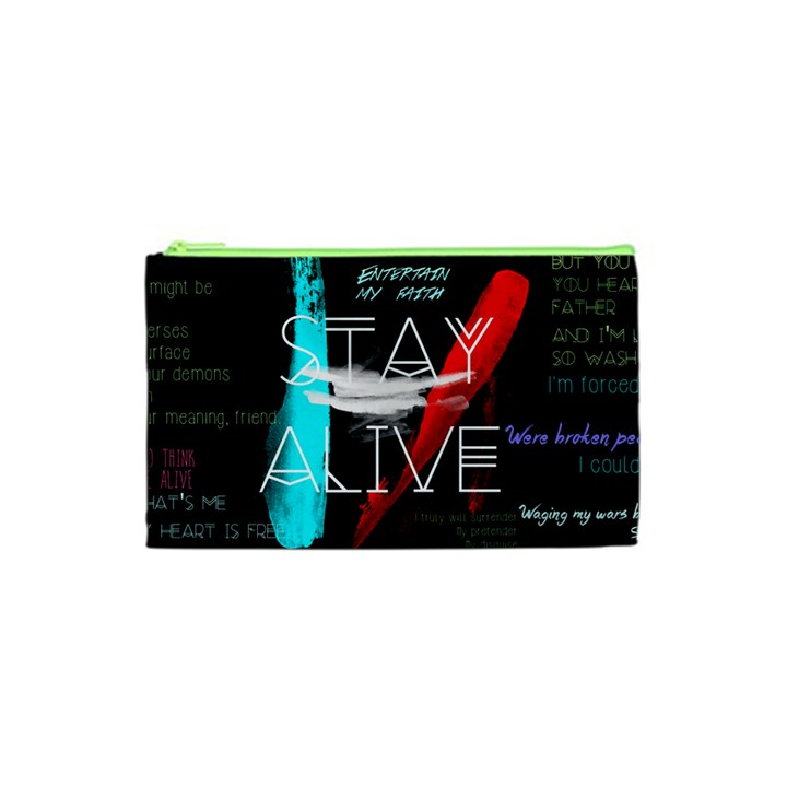 Twenty One Pilots Stay Alive Song Lyrics Quotes Cosmetic Bag (XS)
