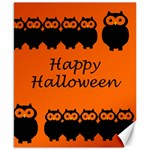Happy Halloween - owls Canvas 8  x 10  10.02 x8 Canvas - 1
