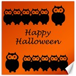 Happy Halloween - owls Canvas 12  x 12   12 x12 Canvas - 1