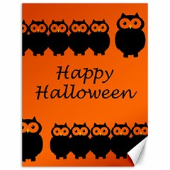 Happy Halloween   Owls Canvas 12  X 16