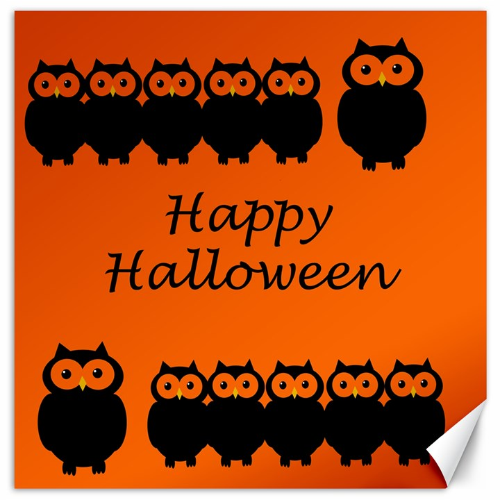 Happy Halloween - owls Canvas 16  x 16