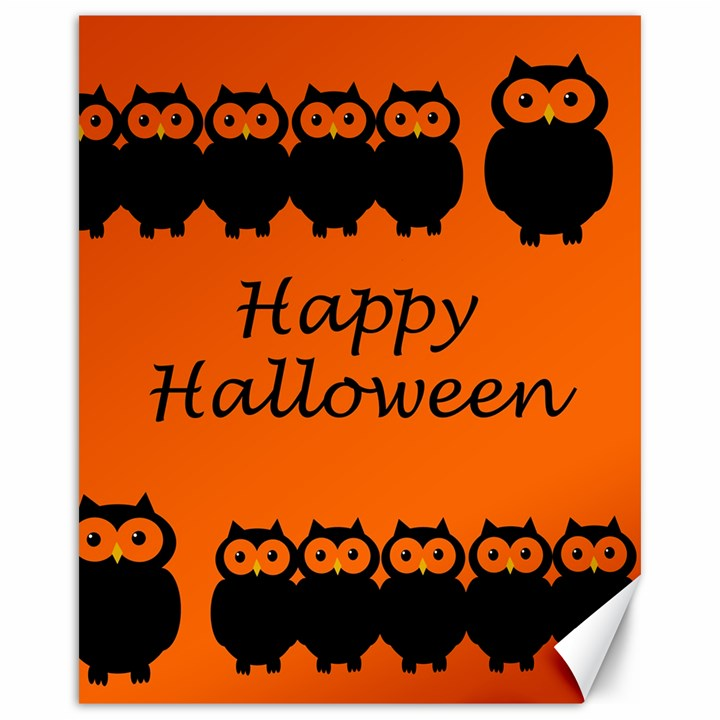Happy Halloween - owls Canvas 16  x 20