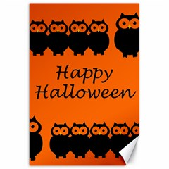 Happy Halloween   Owls Canvas 20  X 30