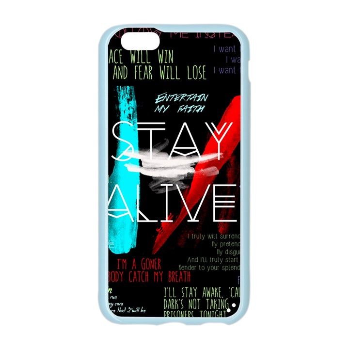 Twenty One Pilots Stay Alive Song Lyrics Quotes Apple Seamless iPhone 6/6S Case (Color)