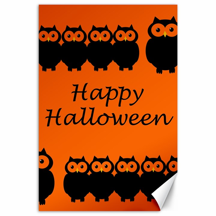 Happy Halloween - owls Canvas 24  x 36
