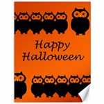 Happy Halloween - owls Canvas 36  x 48   48 x36 Canvas - 1