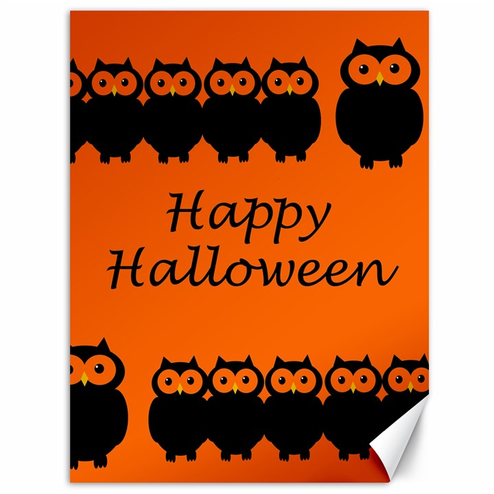 Happy Halloween - owls Canvas 36  x 48