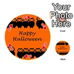 Happy Halloween - owls Playing Cards 54 (Round)  Front - Heart9
