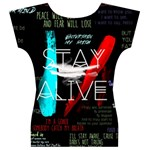 Twenty One Pilots Stay Alive Song Lyrics Quotes Women s V-Neck Cap Sleeve Top Back