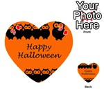 Happy Halloween - owls Playing Cards 54 (Heart)  Front - Diamond9